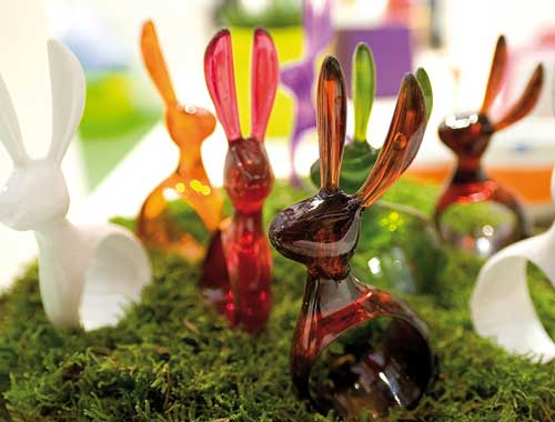 Rabbit napkin holder from Idee Cadeau
